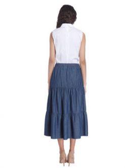 Dark Blue Denim Skirt