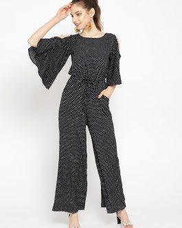 Black & White Printed Basic Jumpsuit