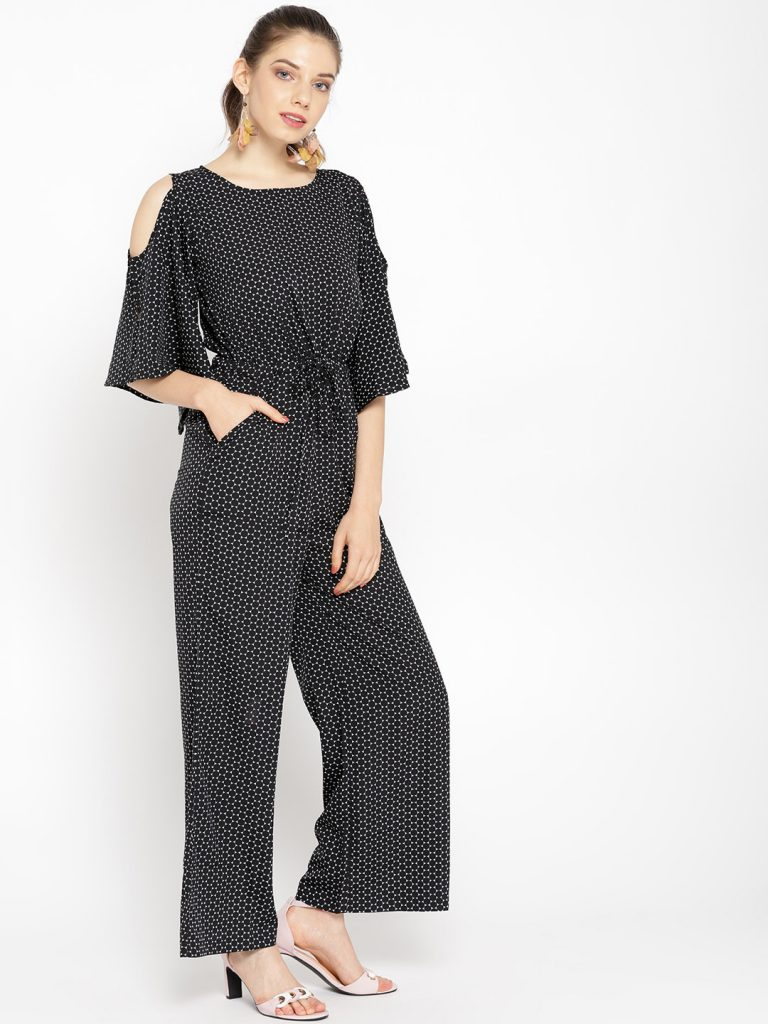 Black & White Printed Basic Jumpsuit3