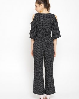 Black & White Printed Basic Jumpsuit