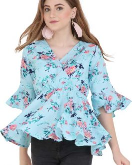 Sleeve Floral Print Women Top