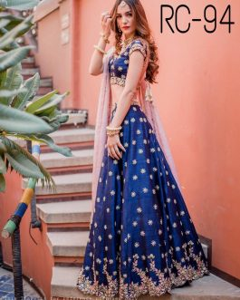 Blue Colour Lehenga Choli Indian Ethnic Bollywood Wear