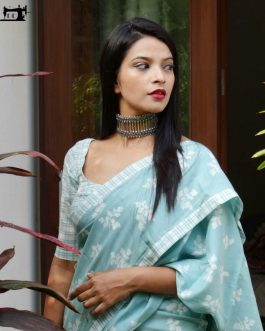 Printed Heavy Cotton Silk Saree