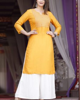 Beautiful Embroided Kurti Palazzo Set