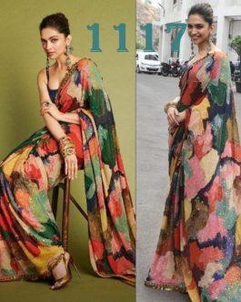 Deepika Padukone Multicolor Saree