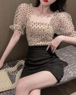 Trendy Polka Smoking Top