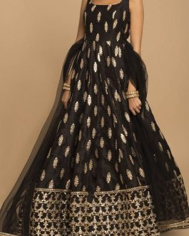 Trendy New Designer Party Wear Tapeta Silk Gown With Dupatta
