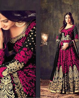 Designer Georgette Dress With Chain Stitch Embroidery