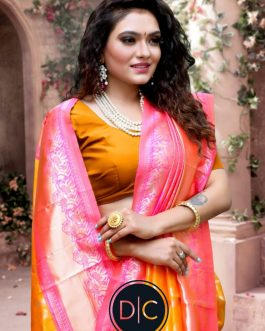 Beautiful Soft Lichi Silk Cloth Saree