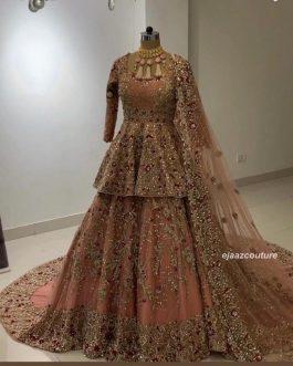 Beautiful Trendy Lehenga Choli With Sleeves