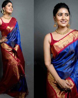 Soft Litchi Silk Cloth Sarees