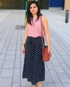 Culottes top and palazzo set with tie up belt