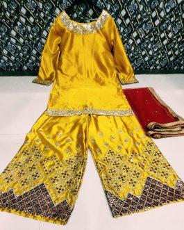 New Designer Soft Satin Silk Top Palazzo